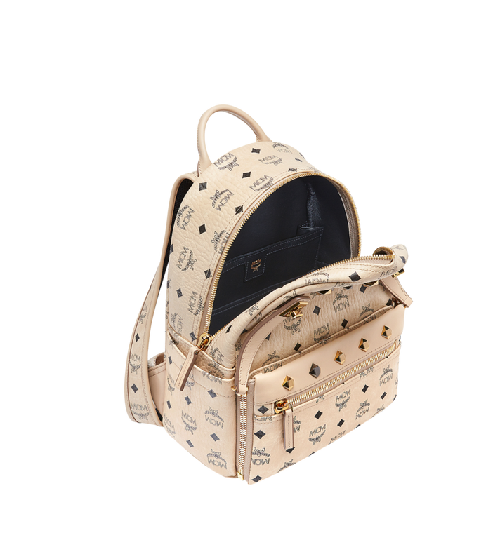 MCM Dual Stark Rucksack in Visetos Alternate View 8
