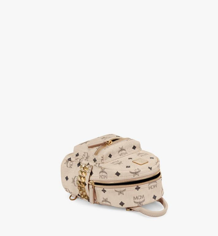 MCM Stark Side Studs Bebe Boo Rucksack in Visetos Beige MMK6AVE92IG001 Alternate View 3