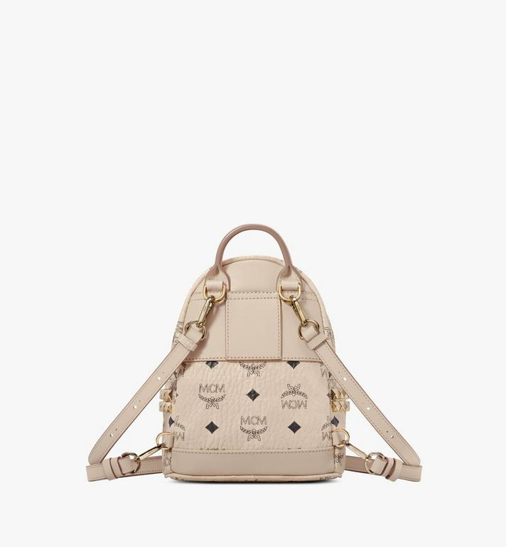 MCM Stark Side Studs Bebe Boo Backpack in Visetos Beige MMK6AVE92IG001 Alternate View 4