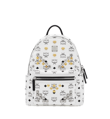 MCM Stark M Studs Rucksack in Visetos Alternate View