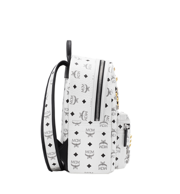 MCM Stark M Studs Rucksack in Visetos Alternate View 3