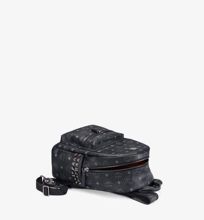 MCM Stark Side Studs Rucksack in Visetos Black MMK6SVE37BK001 Alternate View 3