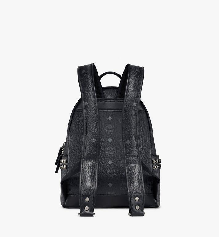 MCM Stark Side Studs Rucksack in Visetos Black MMK6SVE37BK001 Alternate View 4
