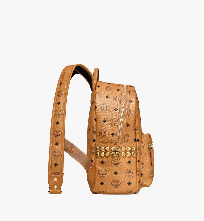 MCM Stark Side Studs Backpack in Visetos Cognac MMK6SVE37CO001 Alternate View 2