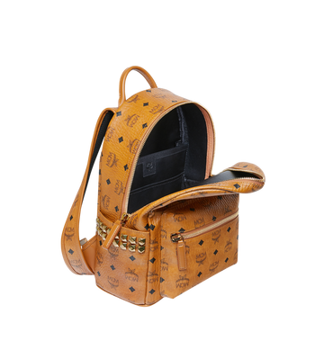MCM Stark Side Studs Rucksack in Visetos Cognac MMK6SVE37CO001 Alternate View 5