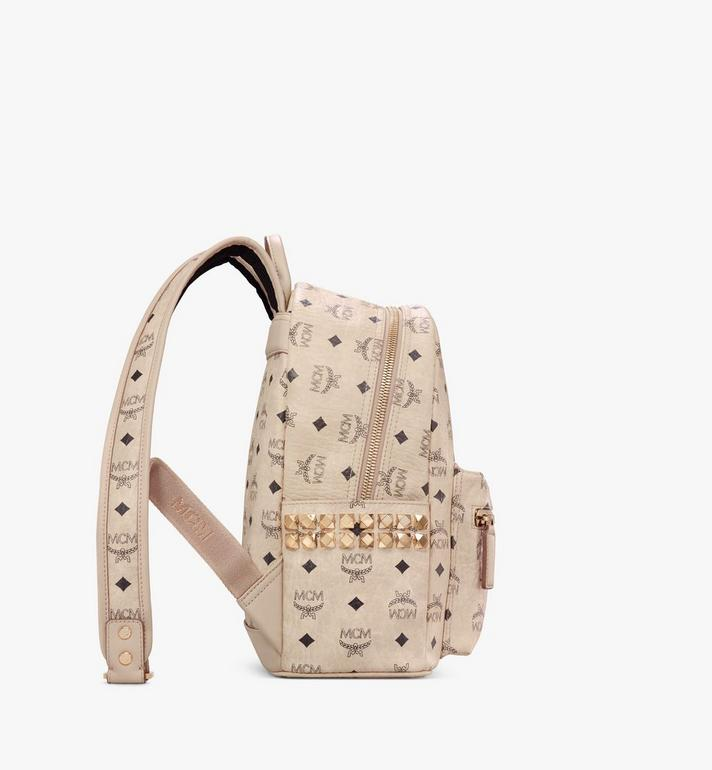 MCM Stark Side Studs Rucksack in Visetos Beige MMK6SVE37IG001 Alternate View 2