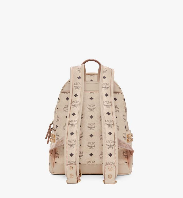 MCM Stark Side Studs Rucksack in Visetos Beige MMK6SVE37IG001 Alternate View 4