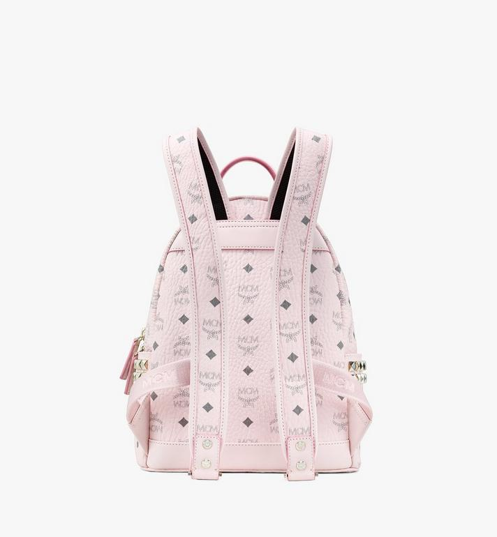 MCM Stark Side Studs Backpack in Visetos Pink MMK6SVE37QH001 Alternate View 3