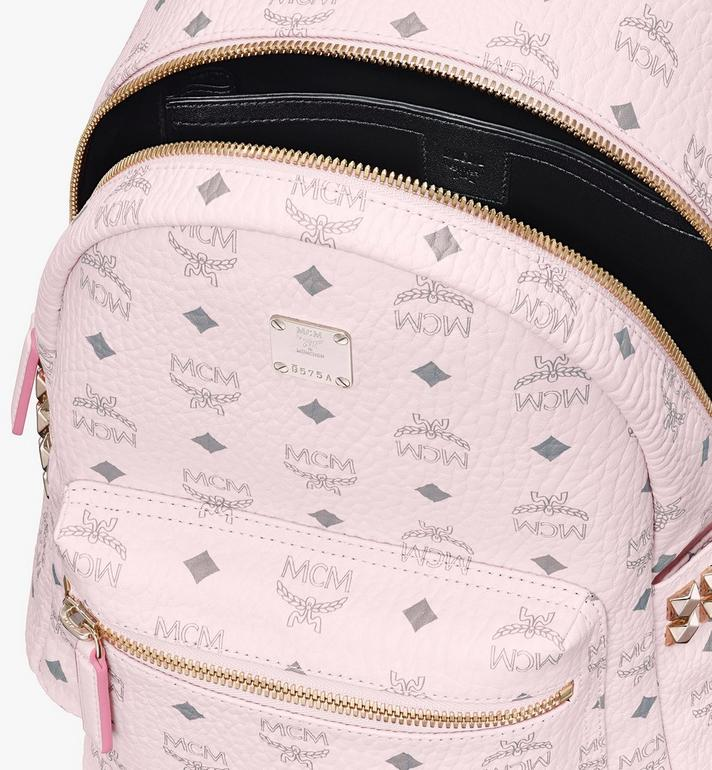 MCM Stark Backpack in Visetos Pink MMK6SVE37QH001 Alternate View 4
