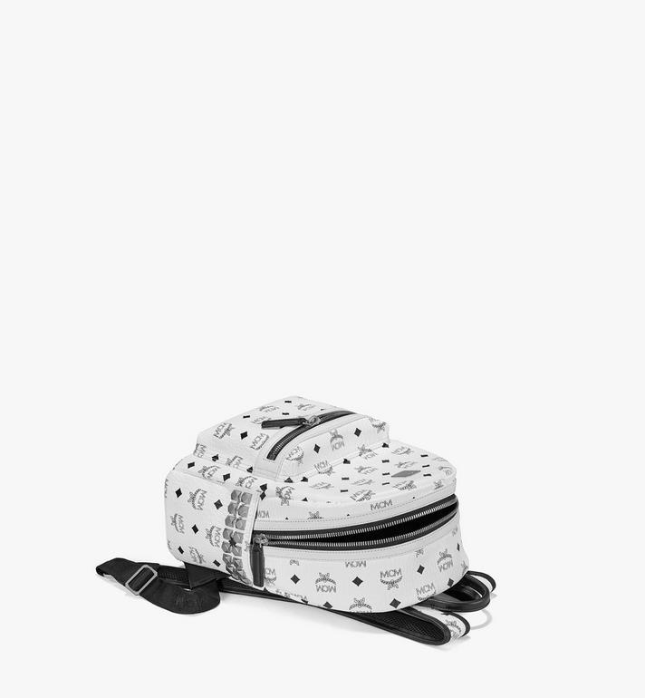 MCM Stark Side Studs Backpack in Visetos White MMK6SVE37WT001 Alternate View 3