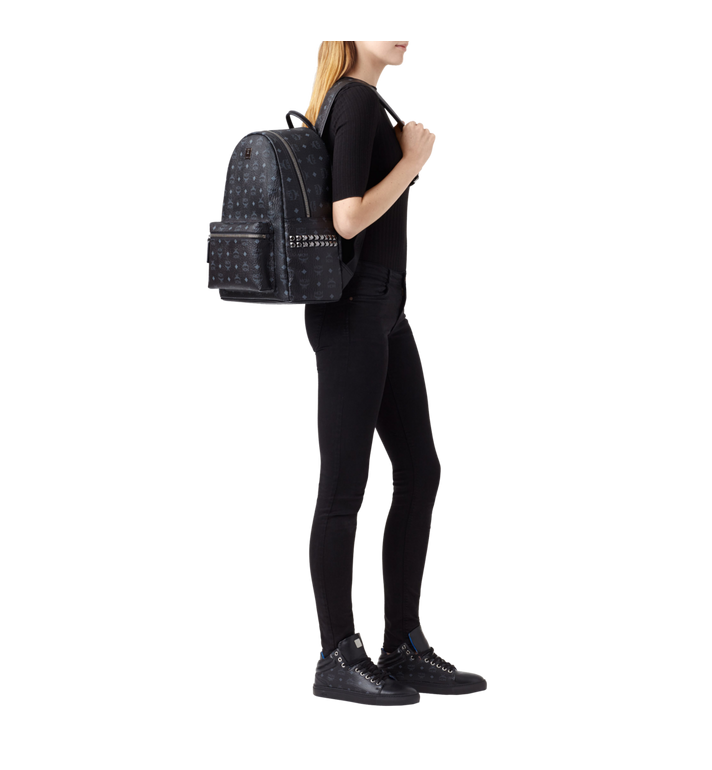 MCM Stark Side Studs Backpack in Visetos Black MMK6SVE38BK001 Alternate View 5