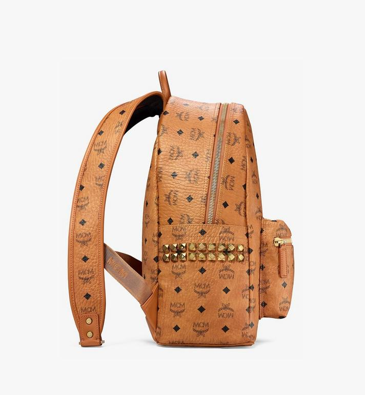 MCM Stark Side Studs Backpack in Visetos Cognac MMK6SVE38CO001 Alternate View 2