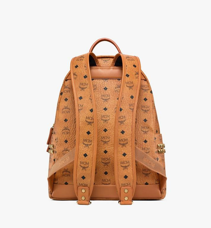 MCM Stark Side Studs Backpack in Visetos Cognac MMK6SVE38CO001 Alternate View 4