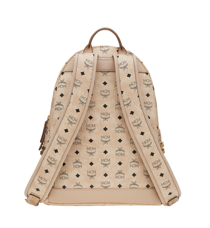 MCM Stark Side Studs Backpack in Visetos Beige MMK6SVE38IG001 Alternate View 4