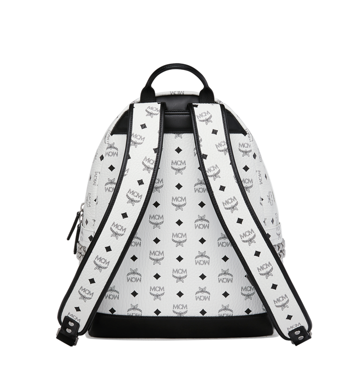 MCM Stark Side Studs Backpack in Visetos White MMK6SVE38WT001 Alternate View 4