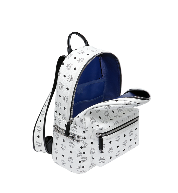 MCM Stark Side Studs Backpack in Visetos White MMK6SVE38WT001 Alternate View 5