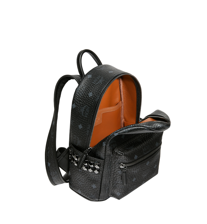MCM Stark Side Studs Backpack in Visetos Black MMK6SVE41BK001 Alternate View 5