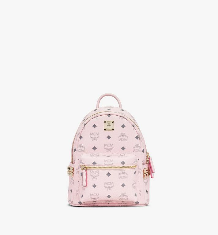 MCM Stark Backpack in Visetos Pink MMK6SVE41QH001 Alternate View 1