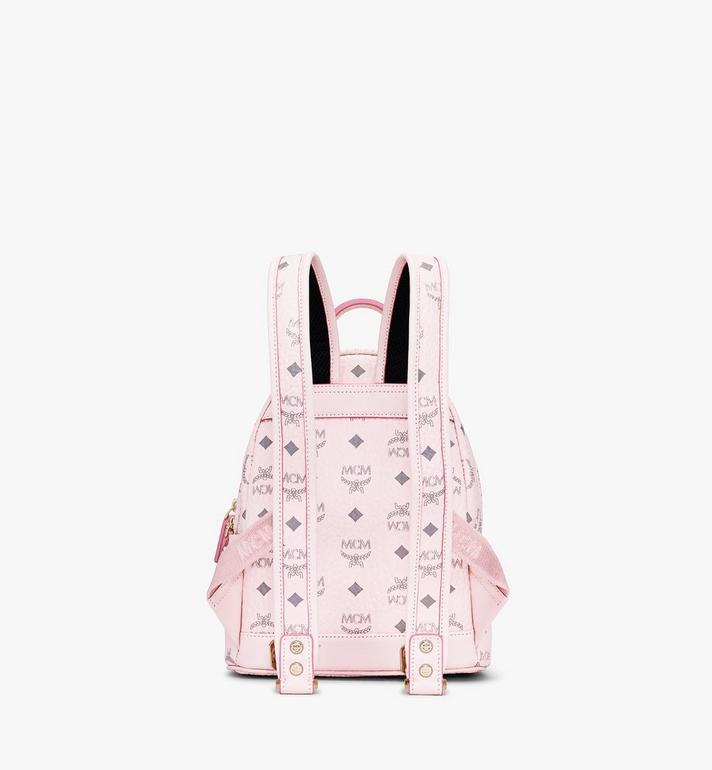 MCM Stark Backpack in Visetos Pink MMK6SVE41QH001 Alternate View 3