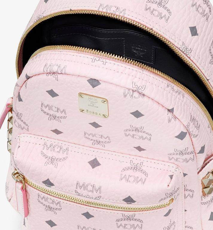 MCM Stark Rucksack in Visetos Pink MMK6SVE41QH001 Alternate View 4