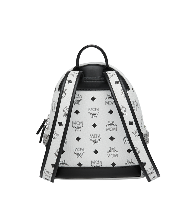 MCM Stark Side Studs Backpack in Visetos White MMK6SVE41WT001 Alternate View 4