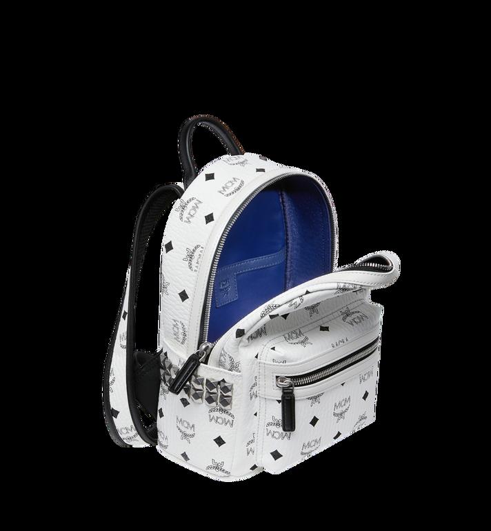MCM Stark Side Studs Backpack in Visetos White MMK6SVE41WT001 Alternate View 5