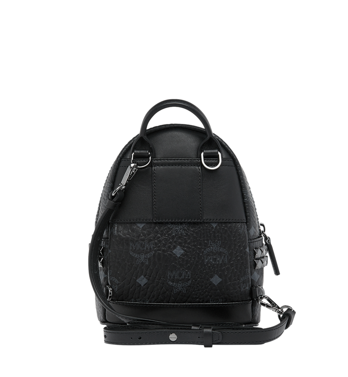 MCM Stark Side Studs Bebe Boo Backpack in Visetos Black MMK6SVE92BK001 Alternate View 6