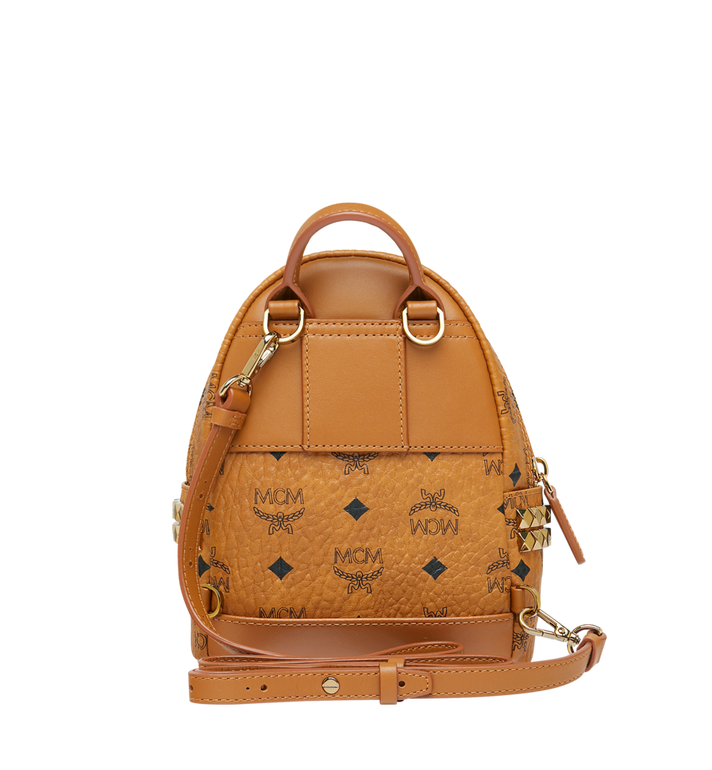 MCM Stark Side Studs Bebe Boo Backpack in Visetos Cognac MMK6SVE92CO001 Alternate View 6