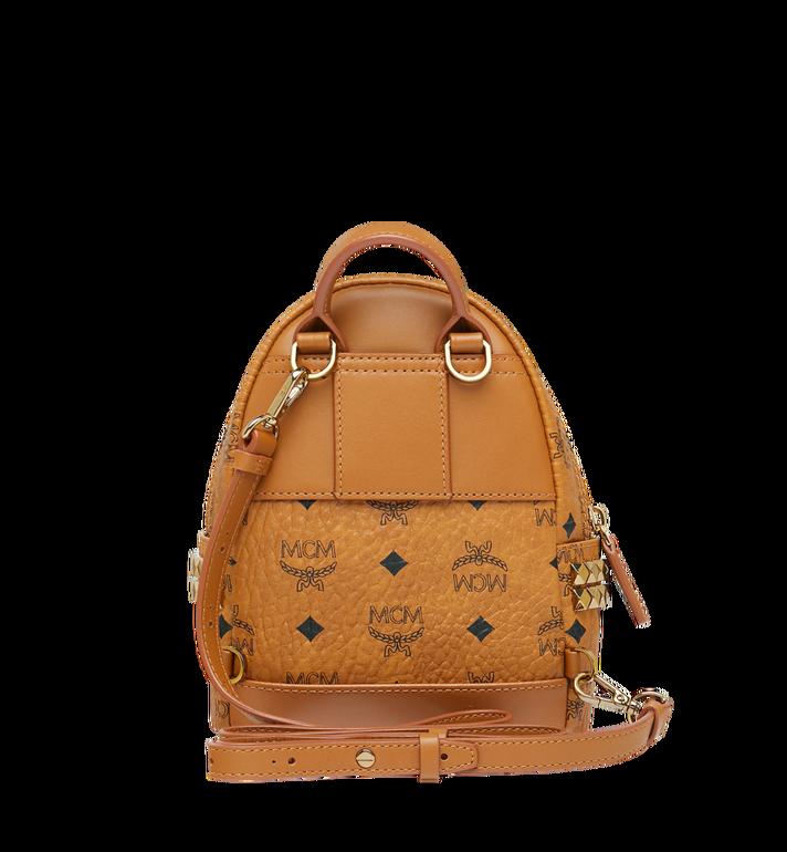 MCM Stark Side Studs Bebe Boo Backpack in Visetos Cognac MMK6SVE92CO001 Alternate View 6