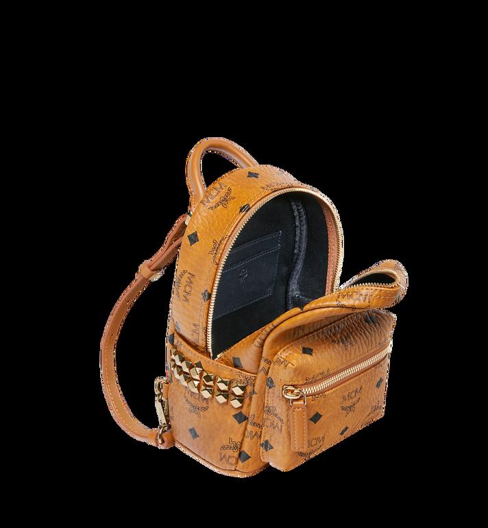 MCM Stark Side Studs Bebe Boo Backpack in Visetos Cognac MMK6SVE92CO001 Alternate View 7