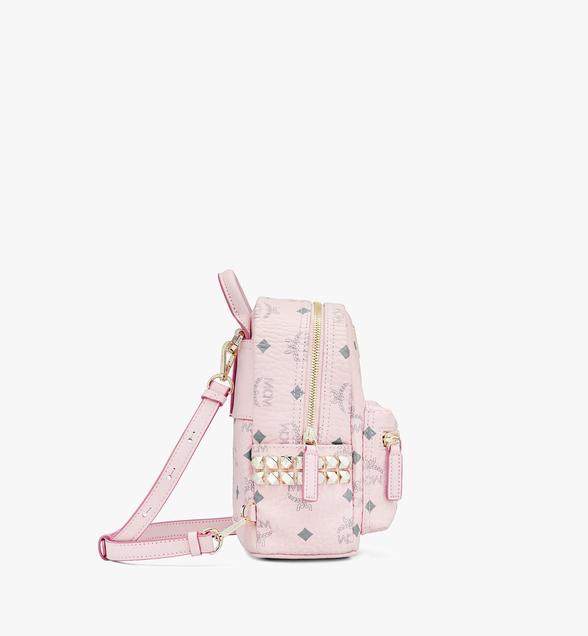 MCM Stark Bebe Boo Backpack in Visetos Pink MMK6SVE92QH001 Alternate View 2