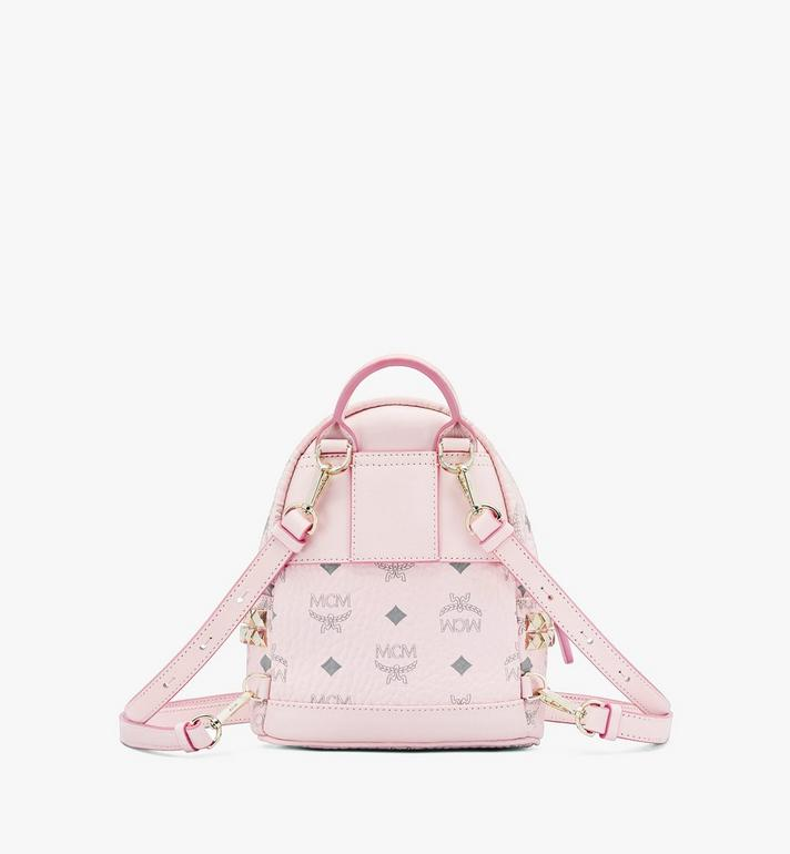 MCM Stark Bebe Boo Backpack in Visetos Pink MMK6SVE92QH001 Alternate View 3