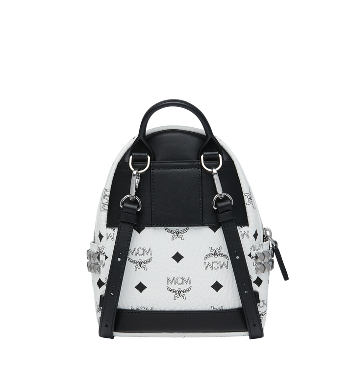 MCM Visetos 系列的 Stark Side Studs Bebe Boo 後背包 White MMK6SVE92WT001 Alternate View 5