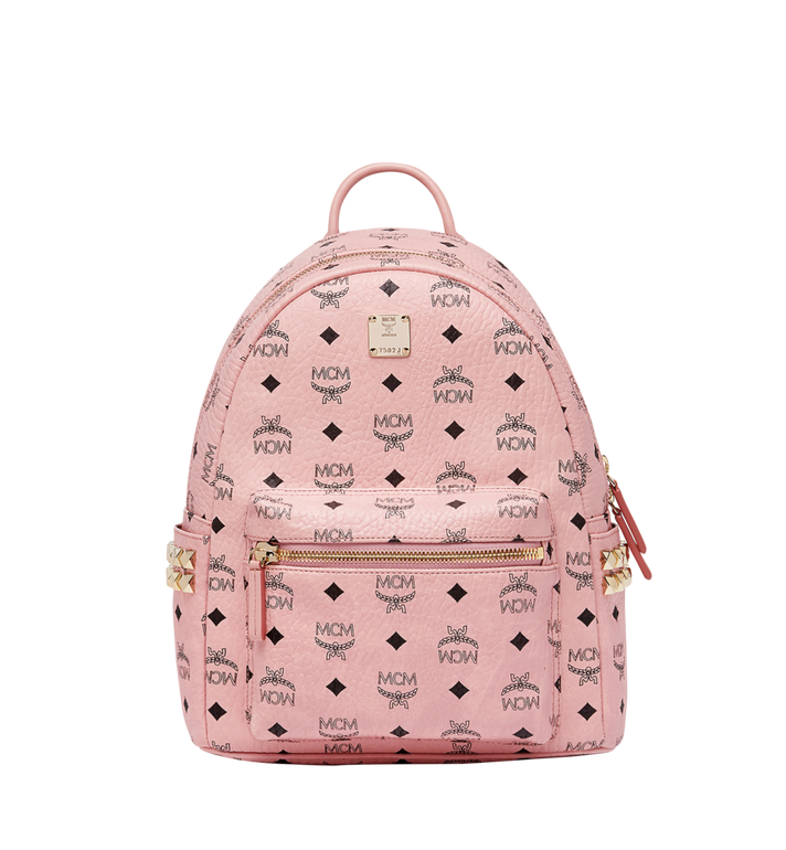 Medium Stark Side Stud Coated Canvas Backpack - Pink, Pz