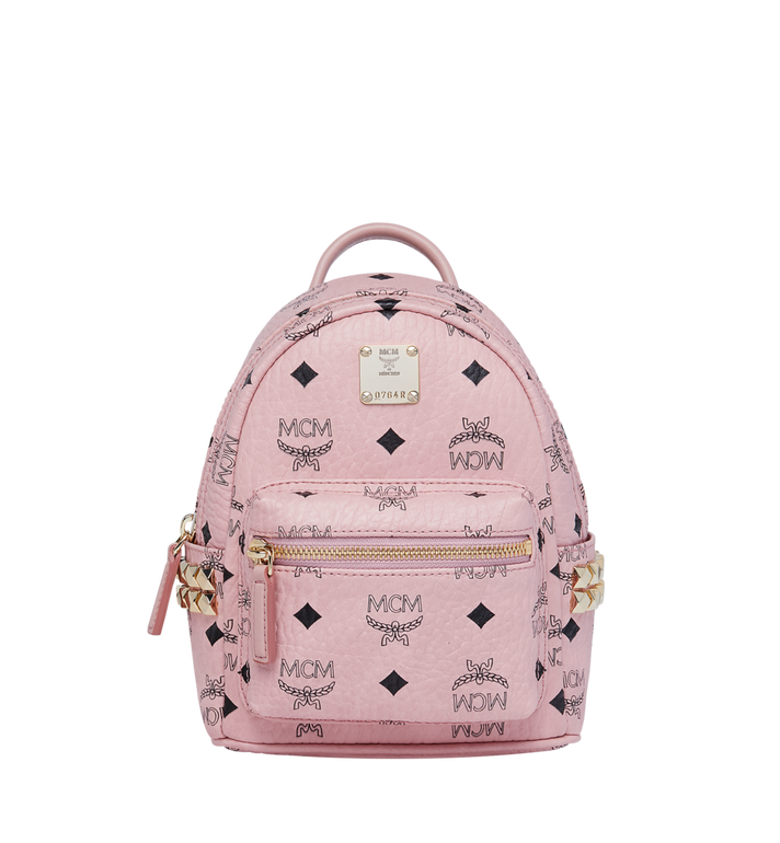MCM Stark Side Studs Bebe Boo Rucksack in Visetos Alternate View