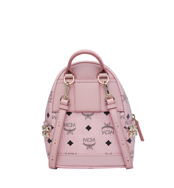 MCM Stark Side Studs Bebe Boo Rucksack in Visetos Pink MMK7AVE92PZ001 Alternate View 5