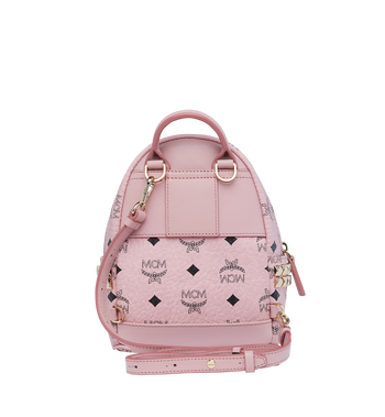 MCM Stark Side Studs Bebe Boo Rucksack in Visetos Pink MMK7AVE92PZ001 Alternate View 6