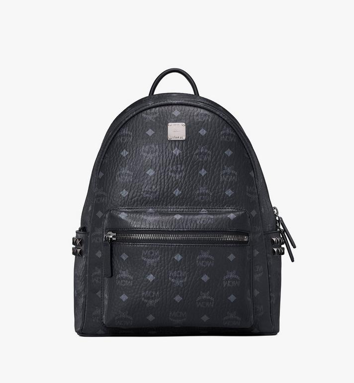 MCM Stark Side Studs Backpack in Visetos Black MMK7AVE99BK001 Alternate View 1