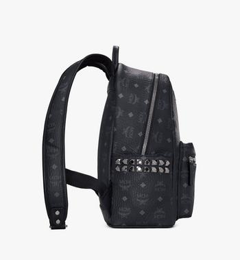 MCM Stark Side Studs Backpack in Visetos Black MMK7AVE99BK001 Alternate View 2