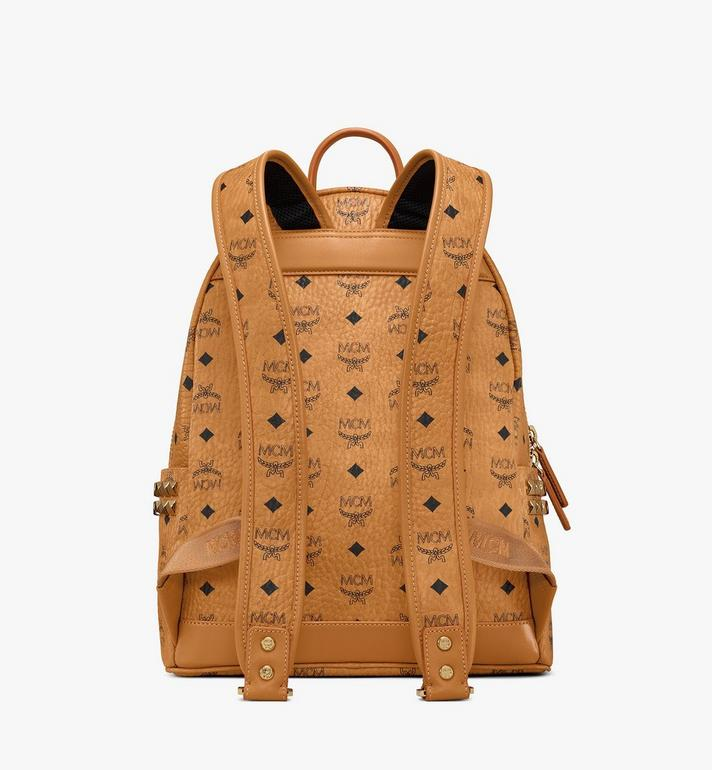MCM Stark Side Studs Backpack in Visetos Cognac MMK7AVE99CO001 Alternate View 4