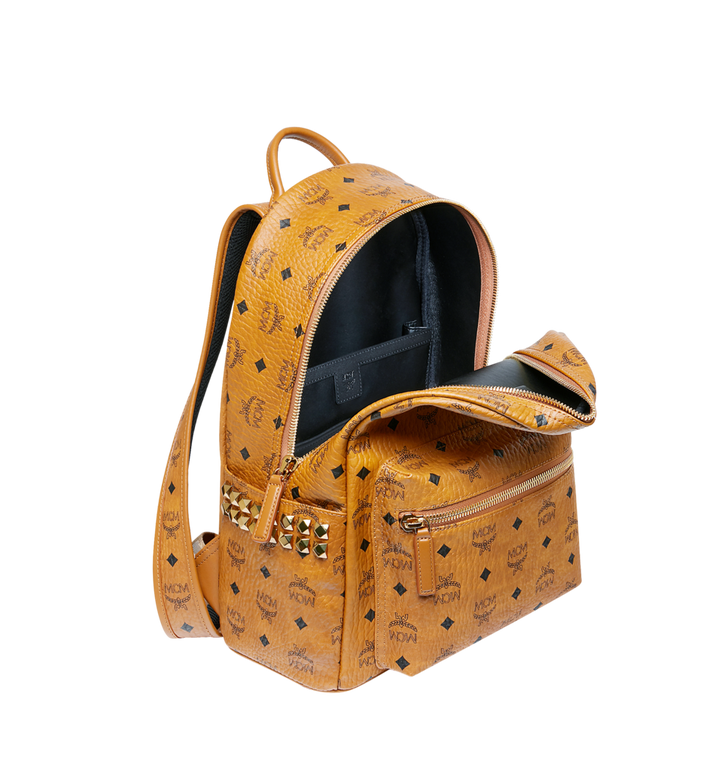 MCM Stark Side Studs Backpack in Visetos Cognac MMK7AVE99CO001 Alternate View 5