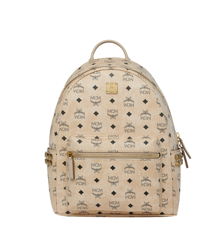 MCM Visetos 系列的 Stark 側鉚釘後背包 Beige MMK7AVE99IG001 Alternate View 1