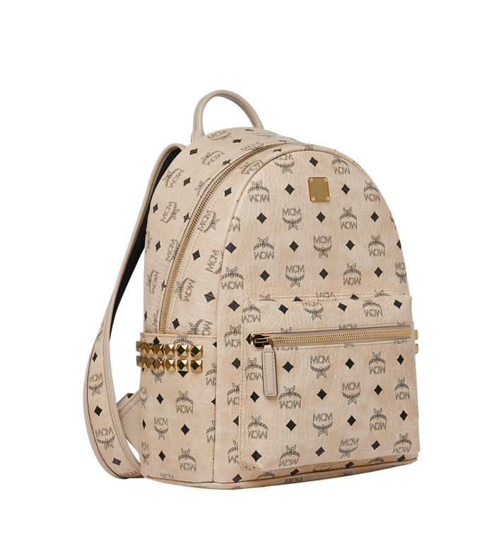 MCM Stark Visetos 侧边铆钉双肩背包 Beige MMK7AVE99IG001 Alternate View 2