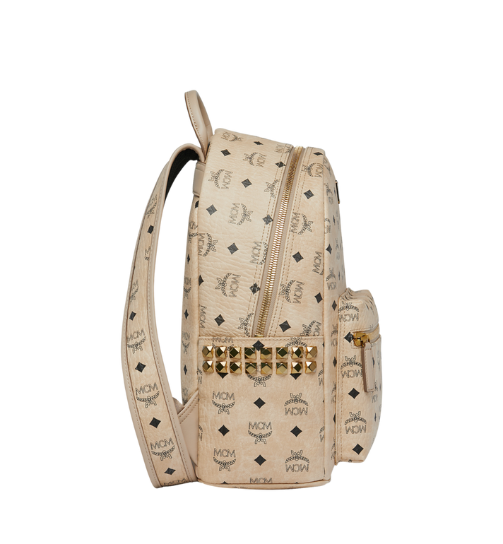 MCM Stark Side Studs Backpack in Visetos Beige MMK7AVE99IG001 Alternate View 3