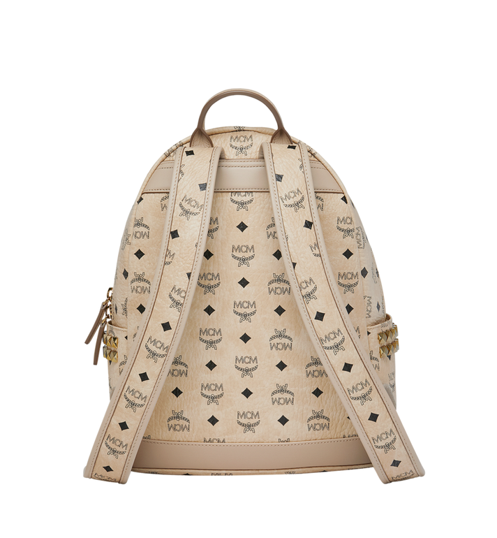 MCM Stark Side Studs Backpack in Visetos Beige MMK7AVE99IG001 Alternate View 4