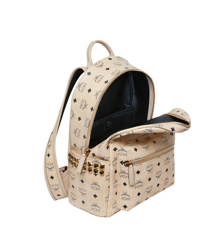 MCM Stark Side Studs Backpack in Visetos Beige MMK7AVE99IG001 Alternate View 5