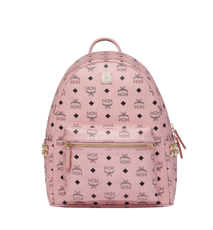MCM Stark Side Studs Backpack in Visetos Pink MMK7AVE99PZ001 Alternate View 1