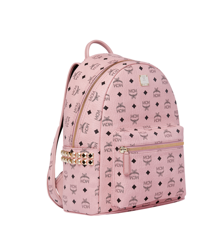 MCM Stark Side Studs Backpack in Visetos Pink MMK7AVE99PZ001 Alternate View 2