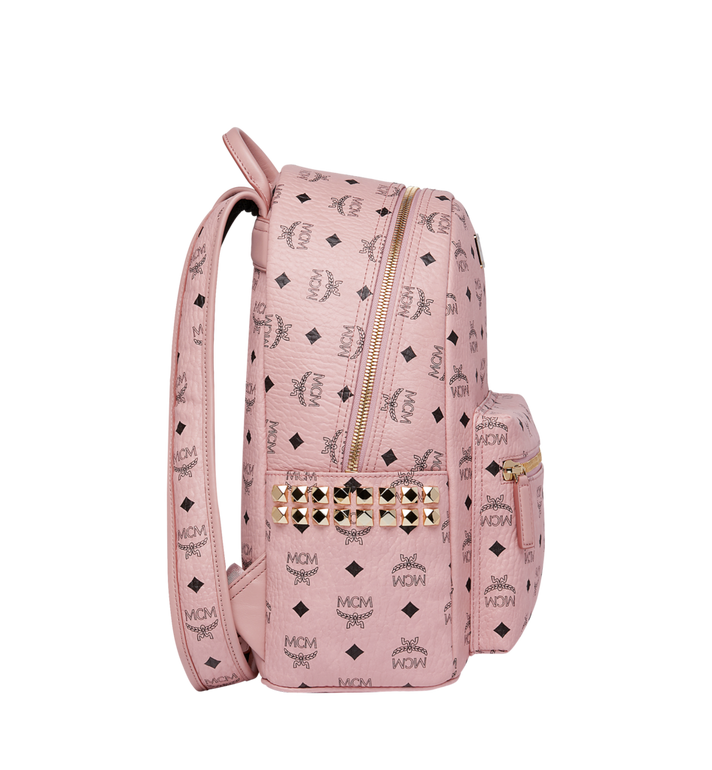 MCM Stark Side Studs Backpack in Visetos Pink MMK7AVE99PZ001 Alternate View 3