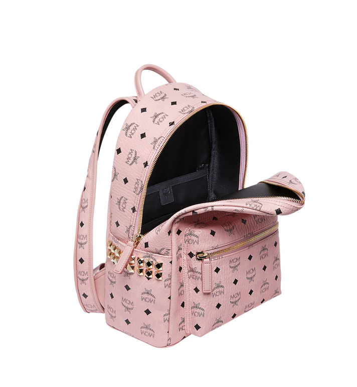 MCM Stark Side Studs Backpack in Visetos Pink MMK7AVE99PZ001 Alternate View 5